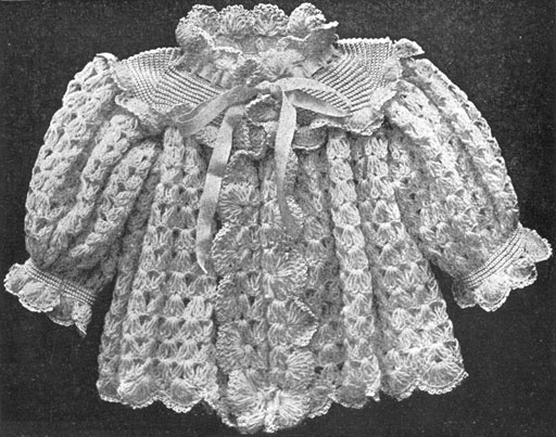 Antique Crochet Patterns : 1900 Antique Victorian Babys Sack Crochet Pattern