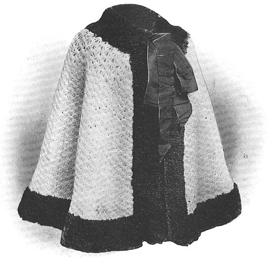 1908 Evening Cloak Crochet Pattern
