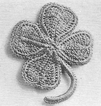 Four Leaf Clover Pin ---- A Free pattern from the JPF Crochet Club