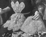 1944 Pineapple Apron and Tea Cozy Set Crochet Patterns. A matching pair in your favourite crochet design makes a perfect gift for that new bride who plans for gracious entertaining ...