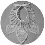 1944 Pineapple Design Baby Bib Crochet Pattern, a dainty gift for a new Baby.
