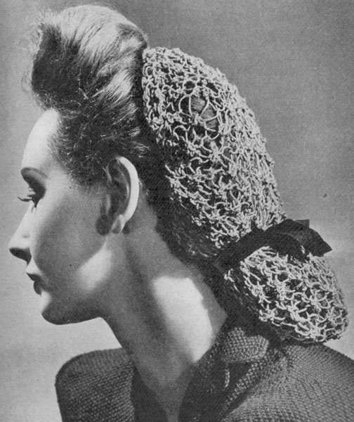 Free Crocheted Snood Pattern, Vintage Crochet Patterns - 1940s