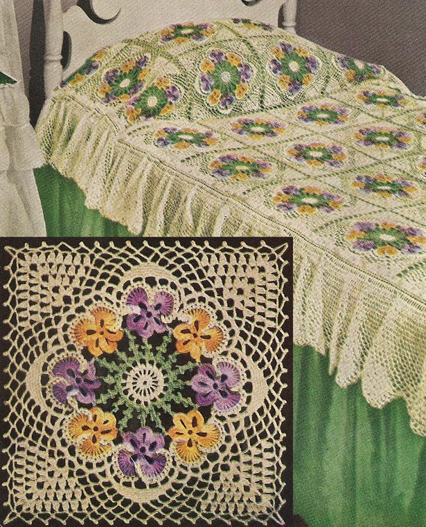 Crochet Bedspread : CROCHETED BEDSPREAD PATTERNS FREE PATTERNS