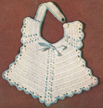 1950 Pretty Baby Bib Crochet Pattern