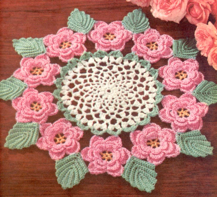 Free Crochet Flower Edging Pattern : IRISH ROSE CROCHET PATTERN - Crochet ? Learn How to Crochet
