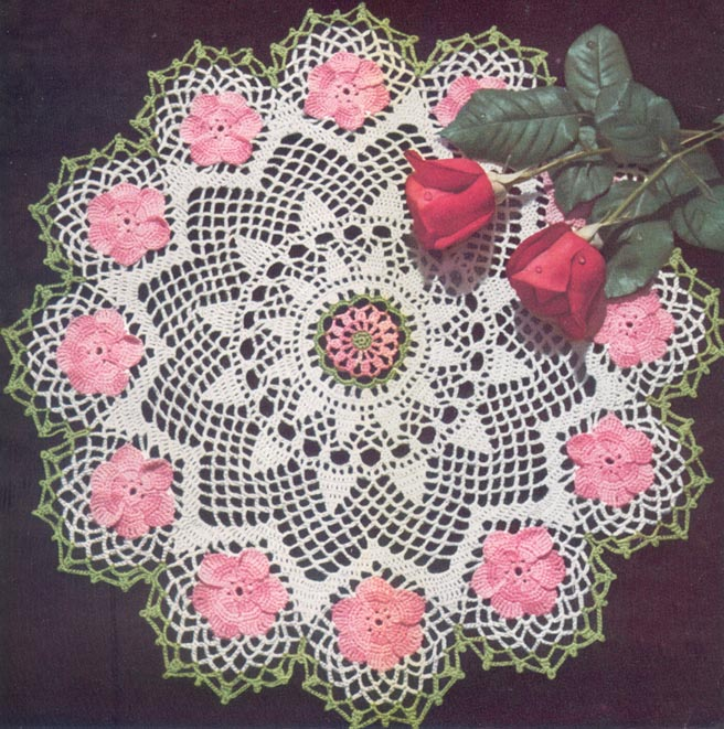 Crochet DOILY PATTERNS Wild ROSE TULIP Daisy VINTAGE | eBay