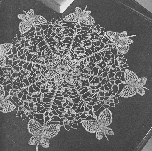 Crochet Doilies : Butterfly Doily Crochet Patterns - Free Vintage Crochet.