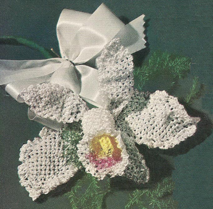1952 Orchid Flower Crochet Pattern
