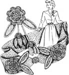 1955 Belt and Corsage Set Crochet Patterns. It can be made any desired width or length, the model however is two inches wide.
