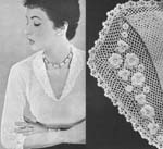 1955 Rose & Shamrock Collar Blouse Crochet Pattern. A simply-styled blouse, darted back and front to fit snugly, and trimmed with rose and shamrock motifs. Size: To fit a 34 to 36-inch bust.