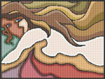Abstract Nude Cross Stitch Pattern