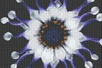 Blue and White Flower Cross Stitch Pattern