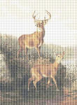 Buck and Doe by Arthur Fitzwilliam Tait Cross Stitch Pattern