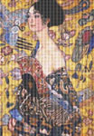 Lady with Fan by Gustav Klimt Cross Stitch Pattern