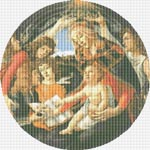 Madonna of the Magnificat by Sandro Botticelli Cross Stitch Pattern