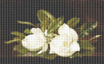 Magnolias on a Wooden Table by Martin Johnson Heade Cross Stitch Pattern