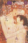 Mother and Child by Gustav Klimt Cross Stitch Pattern