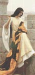 Stitching the Standard by Edmund Blair Leighton Cross Stitch Pattern