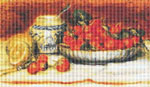 Strawberries by Pierre Auguste Renoir Cross Stitch Pattern