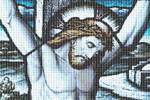 Suffering for US - Jesus Christ Cross Stitch Pattern