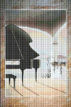 The Piano's Room Cross Stitch Pattern