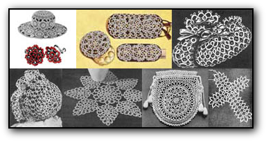Antique and Vintage Tatting Patterns for Babies and Children, Women and Home Décor